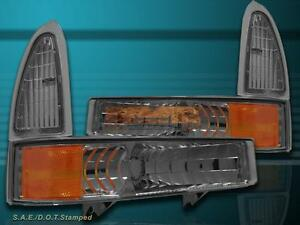 1999-2004 FORD F250 F350 / 2000-2005 EXCURSION BUMPER LIGHTS SIGNAL LAMPS SMOKE