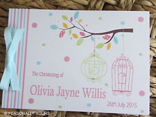 PERSONALISED BABY SHOWER CHRISTENING . NAMING CEREMONY. . GUEST.MESSAGE BOOK
