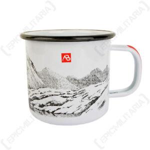White Enamel Outdoors Camping Hiking Coffee Tea Mug Cup - 350 ml
