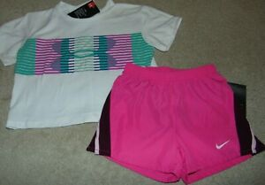 ~NWT Girls NIKE & UNDER ARMOUR Outfit! Size YXS/6 Super Cute FS:)~