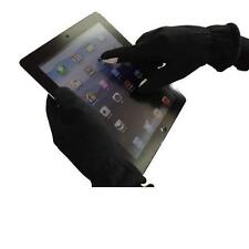 Black Touch Screen Gloves Size Medium with Gold Thumb and Finger Tip Mixed Fibre