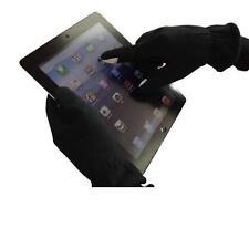 Noir écran tactile Gants Taille M avec doré POUCE ET DOIGT BOUT Mélange fibre