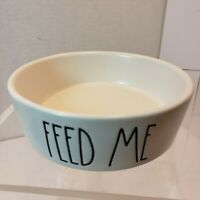 Rae Dunn Feed Me Dog Cat Small Food Water Bowl Ceramic
