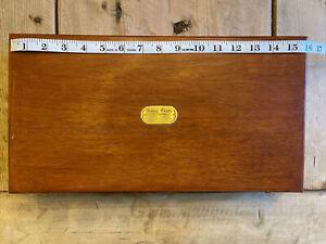 Richard Wheatley of England — Custom Double Sided Wooden Fly Box