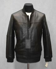 H0 NEW MARC NEW YORK ANDREW MARC Summit Black Leather Moto Jacket Size S $750