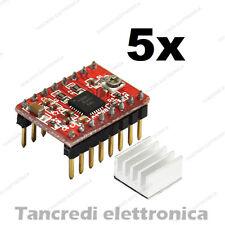 5x Driver A4988 + dissipatore reprap mendel prusa i3 stampante 3d arduino nema17