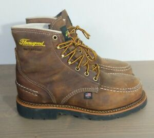 Thorogood 804-3696 Size 8.5 EE Waterproof Safety Moc Toe Boots American Heritage
