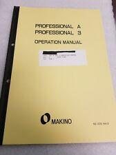 MAKINO Pro A & 3 Operation Manual