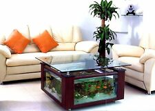 Square Glass 68 gal CoffeTable Aquarium w/ Built-in Filtration & Led Light