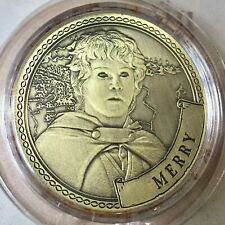 Merry Lord Of The Rings Limited Edition 38mm Collectors Coin In Capsule