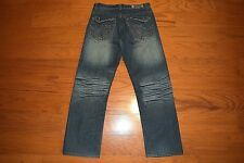 Fusai Mens Size 32X32 34X32 Blue Straight Leg Stretch Jeans New With Tags