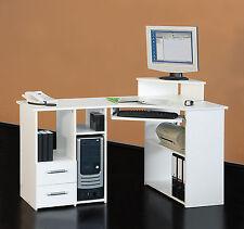 Eck-Schreibtisch Bürotisch PC-Tisch - Links-Version 137 cm - verschiedene Farben
