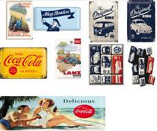 Blechschild + Magnet  8 Motive Auswahl - VW + Lanz + Ahoj Brause + Coca Cola 156