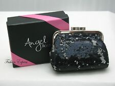 Victoria's Secret ANGEL FOREVER BLACK SEQUIN COIN CHANGE PURSE