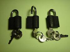 3pcs portable metal locks luggage box 22mm drawer cute lock book lock 3 keys