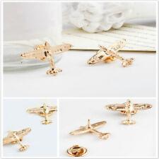 Color Aircraft Plane Brooch Breastpin Ld Lapel Pins Brooch Wedding Suits Gold