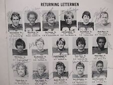 1977 WILLIAM PENN Coll Football Program(33 Signed/JIM SPRY/GREG HAFNER/HERB MAYO
