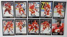 1993-94 Pinnacle Calgary Flames Team Set of 10 Hockey Cards