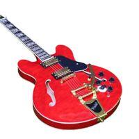 New Custom Shop Semi Hollow Body Electric Guitar Quilt Maple TOp Veneer