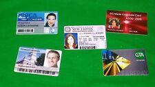 10 Business Company Staff Membership ID Card Printed on Plastic PVC