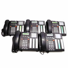 (Lot of 5) Nortel Norstar T7316E Digital 2-Line Business Office Phones w/ Stands
