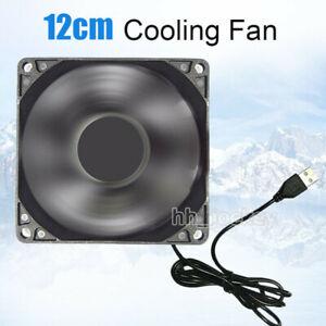 12cm DC 5V USB Cooler Black Silent Cooling Fan For Desktop PC Computer Case UK
