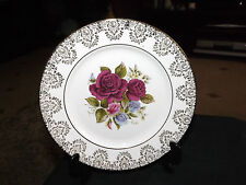 C J Adams & co Ltd Ruby Red Roses & Sweet Pea.Bone China Plate Made in England