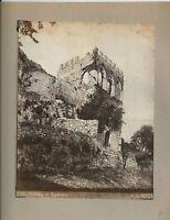 1880 BADIA VECCHIA TAORMINA Giovanni Crupi foto originale d'epoca all'albumina