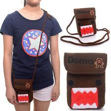 Cute Brown Domo Kun Plush Girl Flap Messenger Mini Wallet Phone Pouch Bag 4*7''