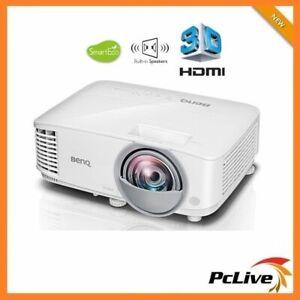 BenQ MW826ST 20,000:1 DLP Projector 3400 Lumens 3D HD HDMI Speaker Short Throw