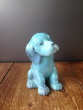 SUPER CUTE COLLECTABLE BLUE GLAZE BESWICK POTTERY PUPPY DOG MODEL NUMBER 454