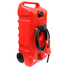 14 Gallon Portable Gas Can Fuel Caddy Transfer Tank Poly Container w/Nozzle Pump