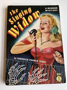 The Singing Widow Veronica Johns vintage mystery sleaze GGA digest paperback