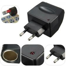 Cigaret Lighter Wall Power Socket  EU Plug 220V AC to 12V DC Adapter Converter