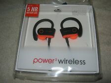 Power3 Wireless G5 Sports Wireless in Ear Headphones, Pink/Black, NIB!!!