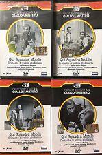 4 Dvd Sceneggiati Rai QUI SQUADRA MOBILE 1ª +2ª Serie di Majano completa 1973-76
