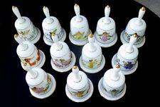 The Enchanted Flowers Porcelain Bell Collection-Franklin Porcelain Fine Bone