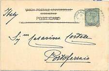 GIBRALTAR -  POSTAL HISTORY:  POSTCARD to ITALY: ISOLA D'ELBA 1903