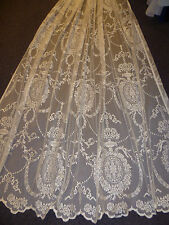 "New delicate vintage style cream lace panel - 90"" drop"
