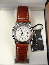 Jacques Du Manior Womens Crocodile Embosed Leather Automatic Watch