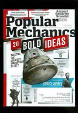 2012 Popular Mechanics Magazine: 20 Bold Ideas/Greatest Innovations Of 2012