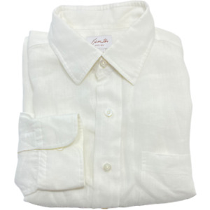 Hamilton Dress Shirt 16.5 33 White 100%  Linen NEW With TAG