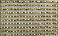 Women Men's Jewelry Wholesale Lots 40pcs Gold Color Stainless Steel Rings