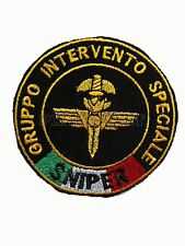Patch GIS Sniper Gruppo Intervento Speciale Carabinieri con Bandiera Italia