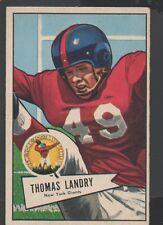 1952 Bowman Large Football Card #142 Tom Landry-New York Giants & Dallas Cowboys
