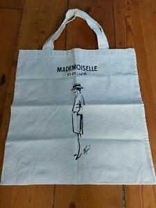 CHANEL MADEMOISELLE PRIVE SAATCHI Exhibit Canvas Tote Bag 100% Cotton/ Poster