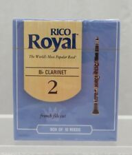 2 Boxes New Rico Royal Bb Clarinet Reeds Strength 2 - 10 Reed Pack Made in USA
