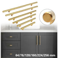 Stainless Steel T bar Modern Kitchen Cabinet Door Handles Drawer Pulls Knobs Lot