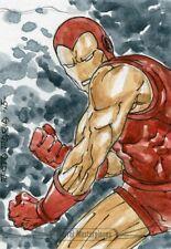 Marvel Masterpieces 2016 Sketch Card - MICHAEL SANTAMARIA - IRON MAN