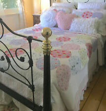 Double Bed Pastel Hamptons Vintage Pink Patchwork Quilt Set Coverlet Bedspread